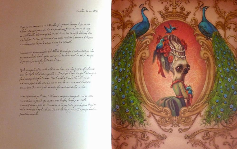 Marie-Antoinette Carnet secret d'une reine de Benjamin Lacombe -